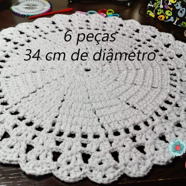 Souplat crochê branco